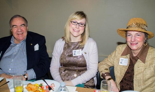 Lew Pritchard, attorney; Caitlin Bellum, attorney; Karen Kane, President Allied Arts Foundation