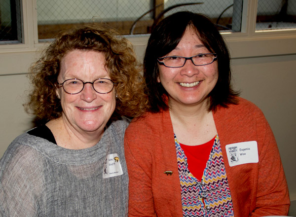 Kate Krafft, FoM board member; Eugenia Woo, Historic Seattle